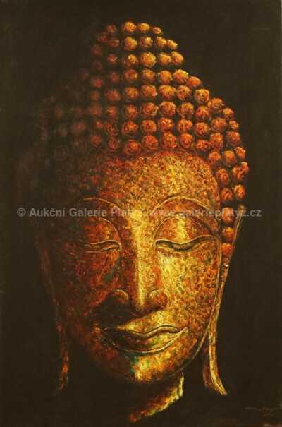 Autor neurčen - Hlava Budhy