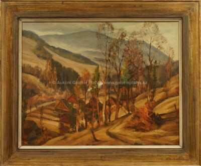 Autor neurčen - Vesnice v horách