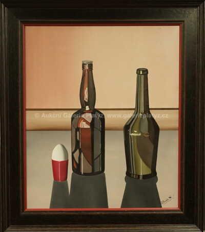 Chládek - Zátiší s lahvemi
