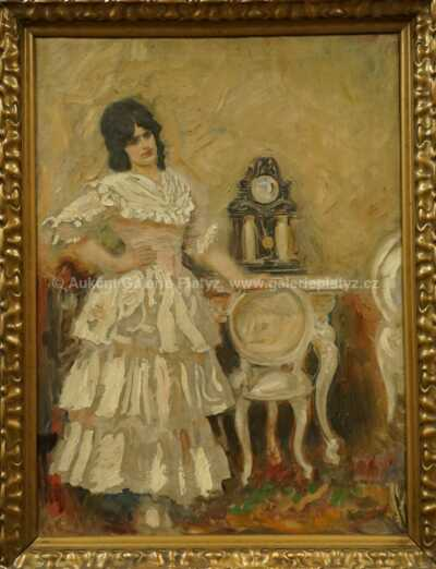 Josef Loukota - Dívka v interiéru