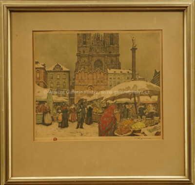 František Tavík Šimon - Trh na Staroměstském náměstí