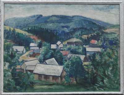 František Srp - Pohled na vesničku