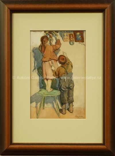 Rudolf Kremlička - Děti ve světnici