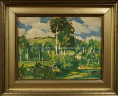Antonín Hudeček - Krajina se stromy