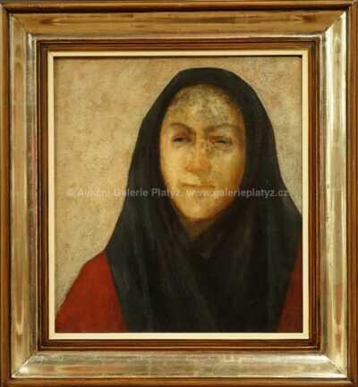 Ota Janeček - Žena v šátku