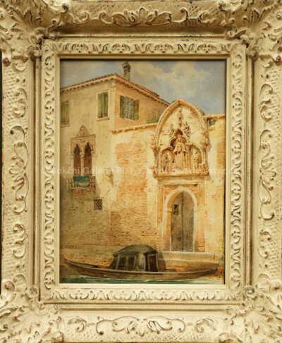 Antonie Brandeisová - Gondola před portálem paláce