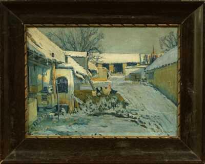 Alois Kalvoda - Zasněžený dvorek
