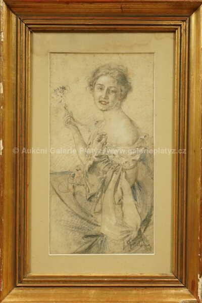 Jan  Dědina - Dívka s kyticí