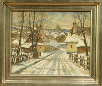 Augustin Mervart - Vesnice v zimě