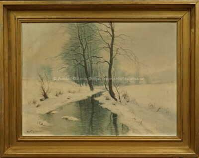 Gustav  Porš - Zima na Vysočině