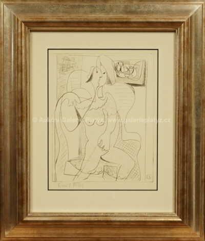 Kubistická žena v křesle