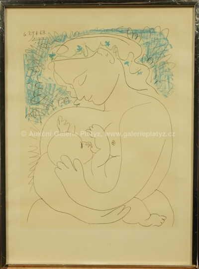 Pablo Picasso - Žena s dítětem