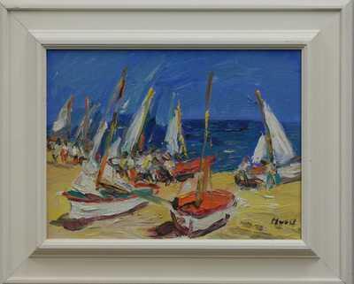 Leopold Musil - Loďky na pláži