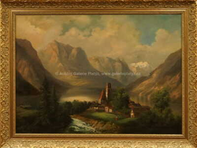 Ferdinand Lepie - Alpské jezero