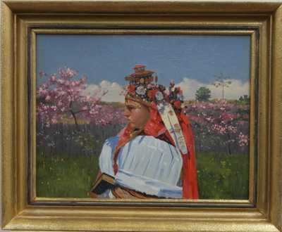 Josef Cerman - Děvče u rozkvetlého sadu