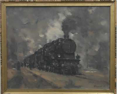 Vilém  Kreibich - Na nádraží