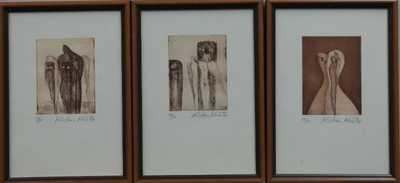 Kristian Kodet - Konvolut tří litografií