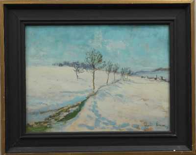 Rudolf Lexa - Zasněžená krajina
