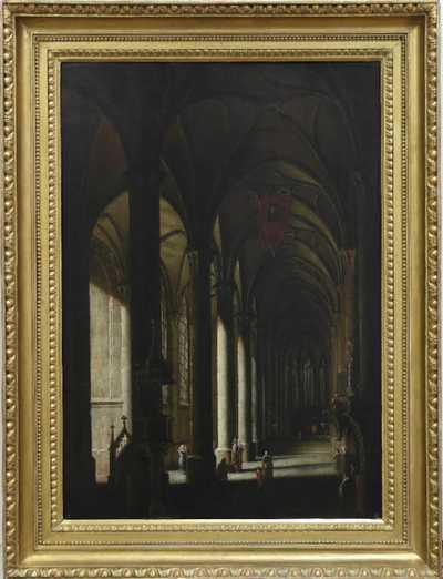 Ludvík Kohl - Interiér gotického chrámu