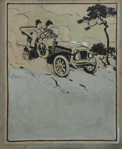 Antonín Brunner - Návrh reklamního plakátu