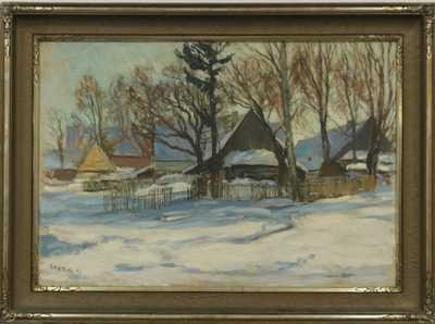 Gustav Macoun - Zasněžená vesnička