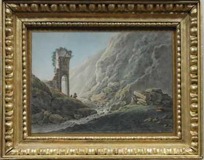 Autor neurčen - Zřícenina v horách