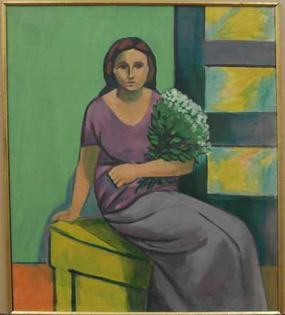 Eugen Nevan - Žena s kyticí