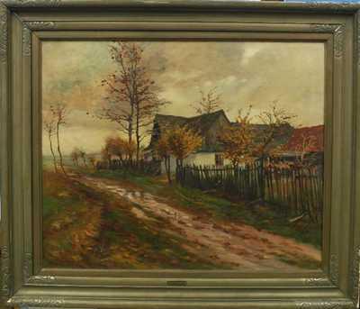 Gustav  Porš - Po dešti na podzim v Hosinách