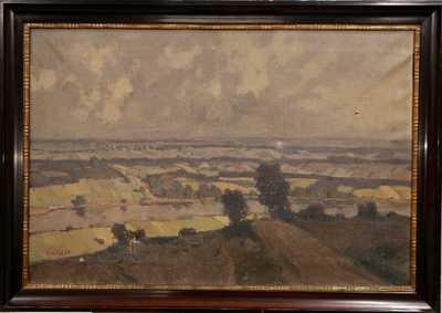 Vilém  Kreibich - Pohled na krajinu s řekou
