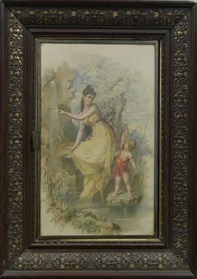 Franz Lefler - Akvarely v zrcadle