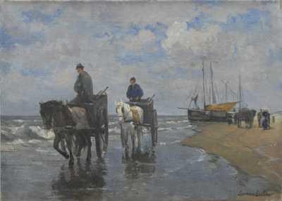 German Grobe - Rybáři na pobřeží