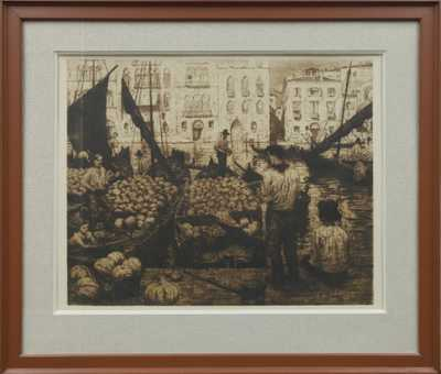 František Tavík Šimon - Trh s melouny v Benátkách