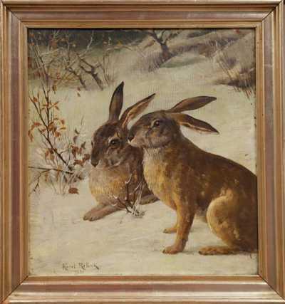 Karel Rélink - Zajíci na sněhu