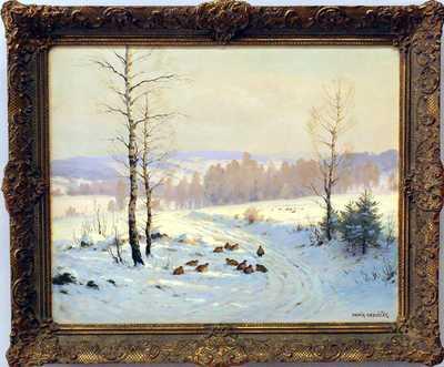 František Daněk - Sedláček - Koroptve se sněhu