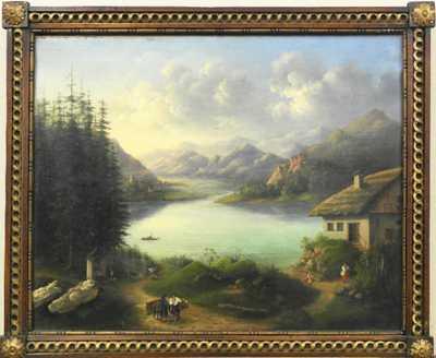 Nesignováno - Horské jezero