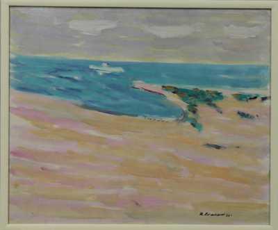 Kamil Linhart - Středomořský záliv s lodí