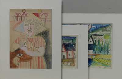 Richard Fremund - Konvolut tří barevných studií