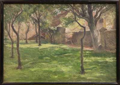 Robert Schlosser - Pohled do zahrady
