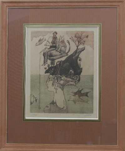 Adolf Born - Ostrov s rybařícím ptákem