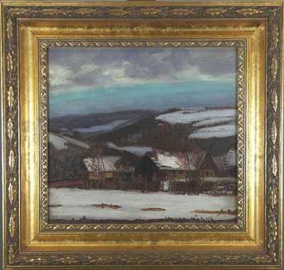 Otakar Hůrka - Zasněžená vesnička