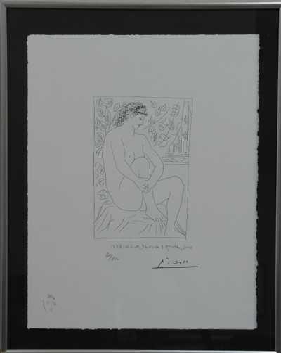 Pablo Picasso - Sedící akt