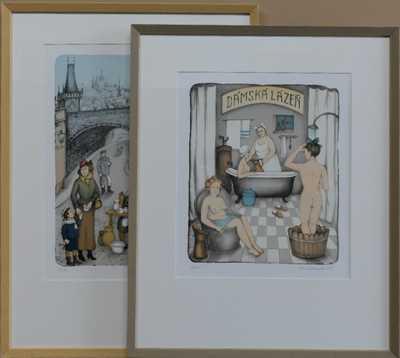 Iva Hűttnerová - Konvolut dvou litografií