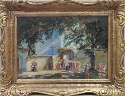 Josef Procházka - Před kostelem