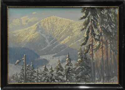 Karel Havlata - Pohled na Sněžku