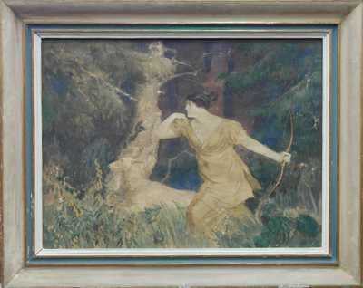 Adolf  Kašpar - Diana na lovu