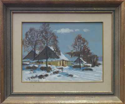 Karel Schadt - Zasněžená vesnička