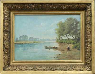 Autor neurčen - Na břehu řeky
