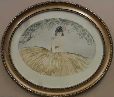 Autor neurčen - Dívka s motýlem