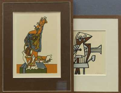 František Gross - Konvolut dvou litografií
