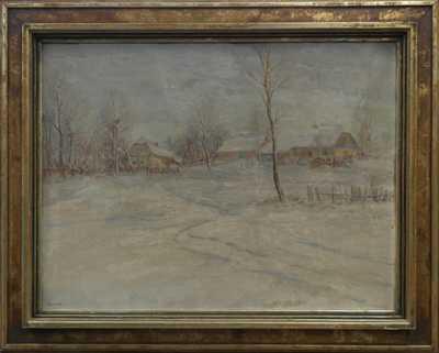 František Škrabánek - Zimní vesnice